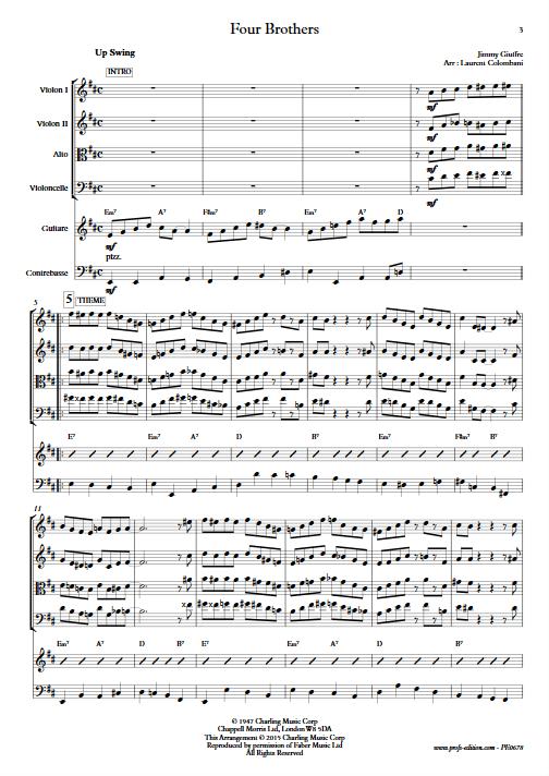 Four Brothers - Sextuor à Cordes - COLOMBANI L. - app.scorescoreTitle