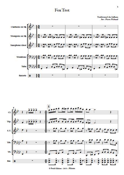 Fox Trot - Fanfare - TRADITIONNEL - app.scorescoreTitle