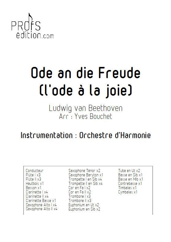 L'hymne à la joie - Orchestre Harmonie - BEETHOVEN L. V. - front page