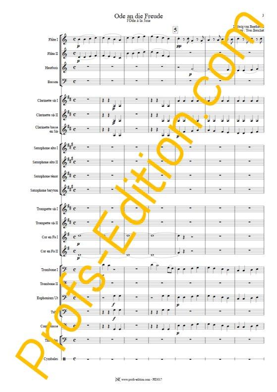 L'hymne à la joie - Orchestre Harmonie - BEETHOVEN L. V. - app.scorescoreTitle