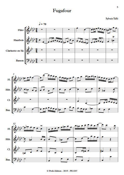 Fugafour - Quatuor à vents - TALLE S. - app.scorescoreTitle
