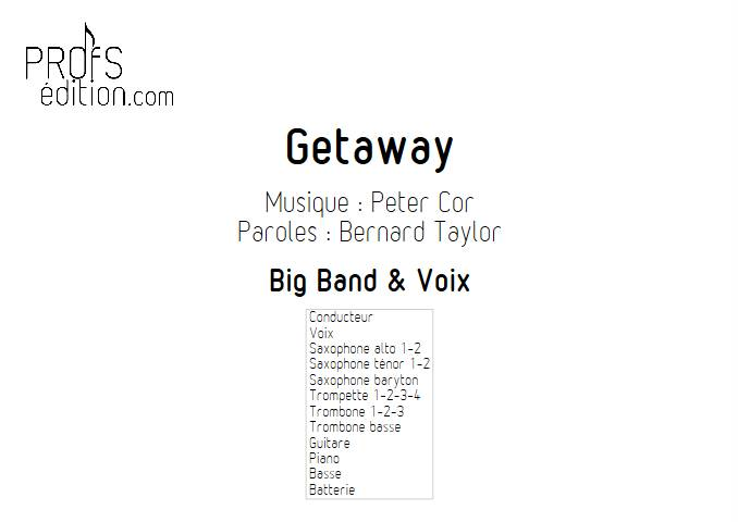 Getaway - Chant et Big Band - EARTH WIND AND FIRE - front page