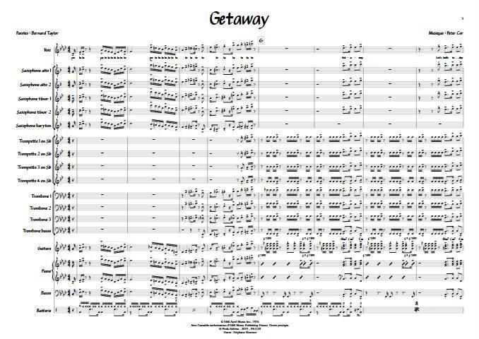Getaway - Chant et Big Band - EARTH WIND AND FIRE - app.scorescoreTitle