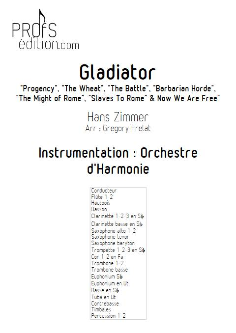 Gladiator - Orchestre d'Harmonie - ZIMMER H. - front page