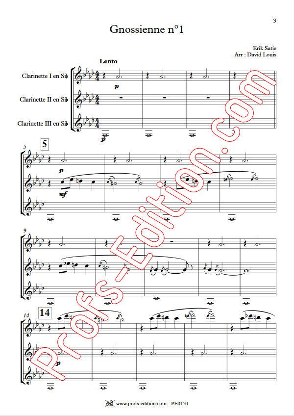 Gnossienne n°1 - Trio Clarinettes - SATIE E. - app.scorescoreTitle