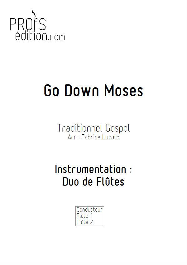 Go Down Moses - Duo de Flûtes - TRADITIONNEL GOSPEL - front page