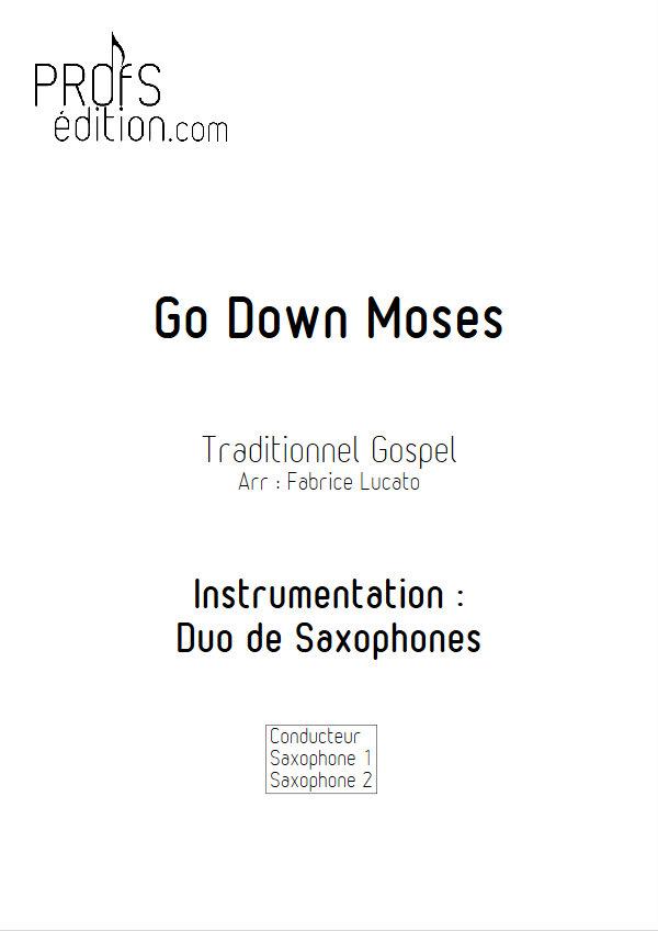Go Down Moses - Duo de Saxophones - TRADITIONNEL GOSPEL - front page