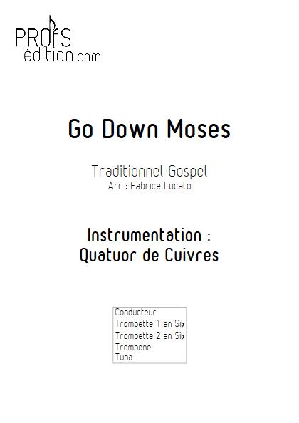 Go Down Moses - Quatuor de Cuivres - TRADITIONNEL GOSPEL - front page