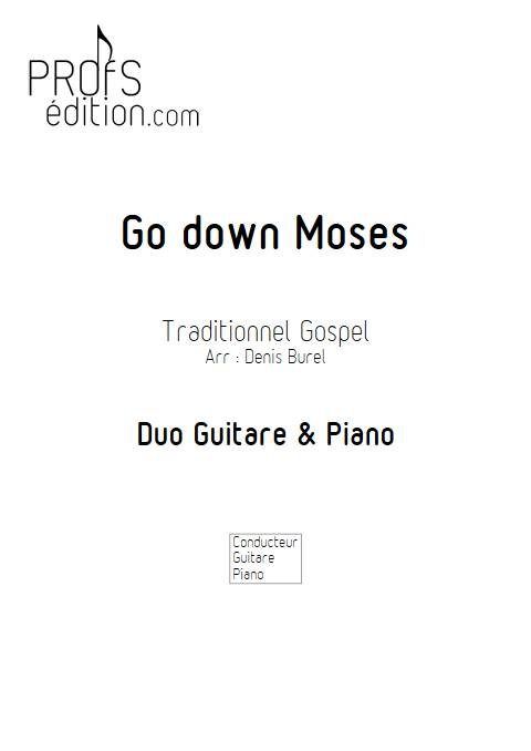 Go down Moses - Guitare & Piano - GOSPEL - front page