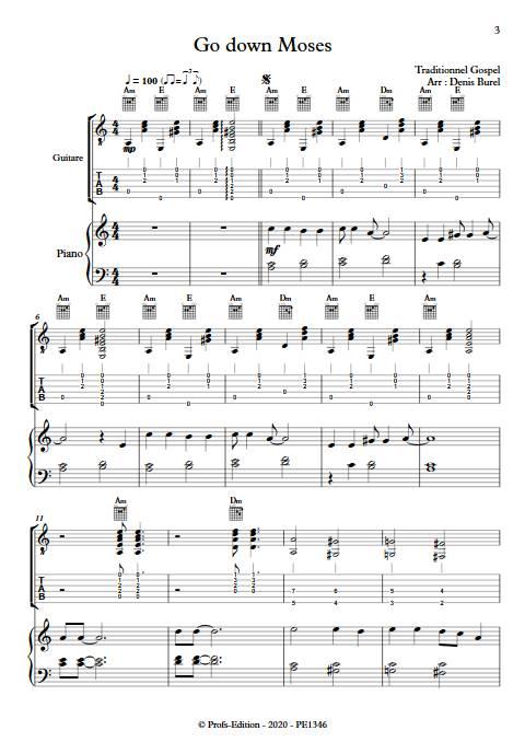 Go down Moses - Guitare & Piano - GOSPEL - app.scorescoreTitle