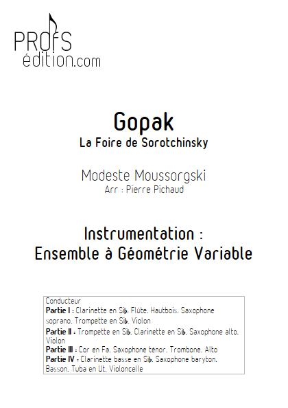 Gopak - Ensemble à Géométrie Variable - front page
