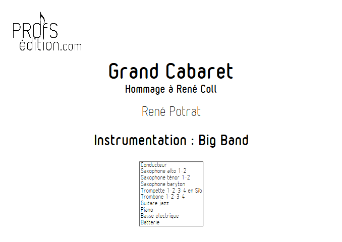 Grand Cabaret - Big Band - POTRAT R. - front page