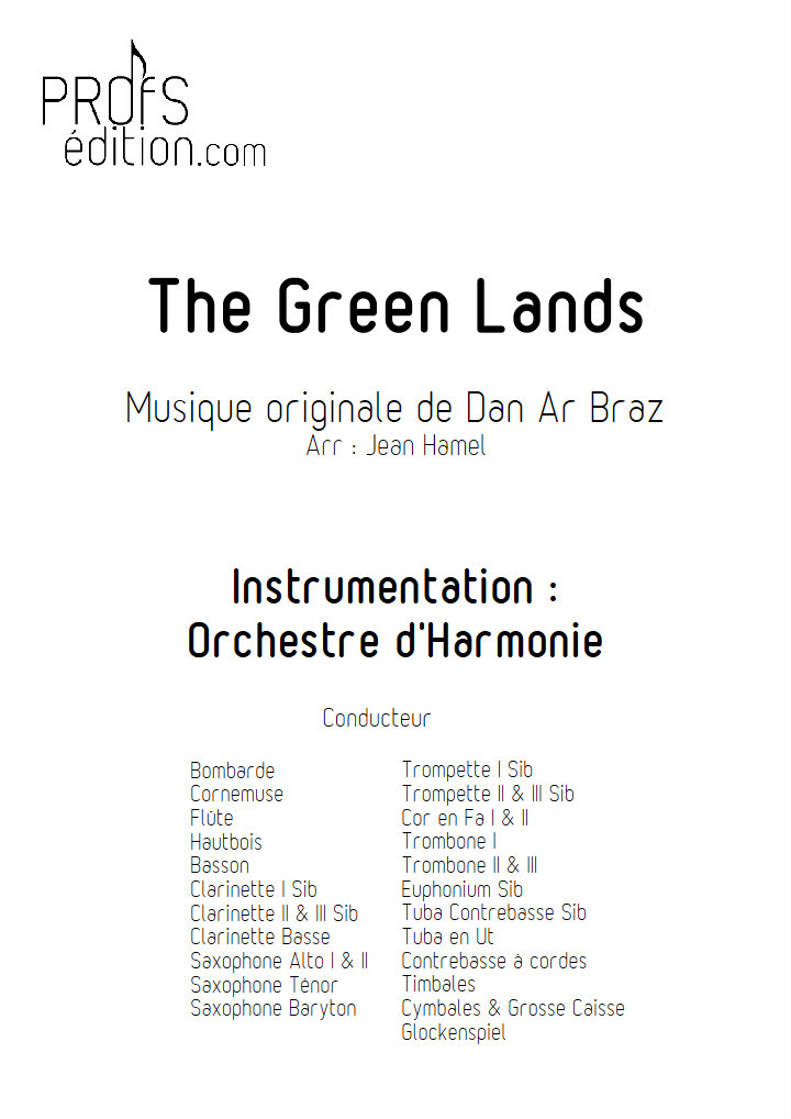 The Green Lands - Orchestre d'Harmonie - DAN AR BRAZ - front page