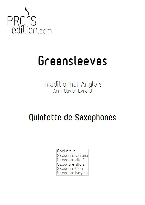 Greenleeves - Quintette de Saxophones - TRADITIONNEL ANGLAIS - front page