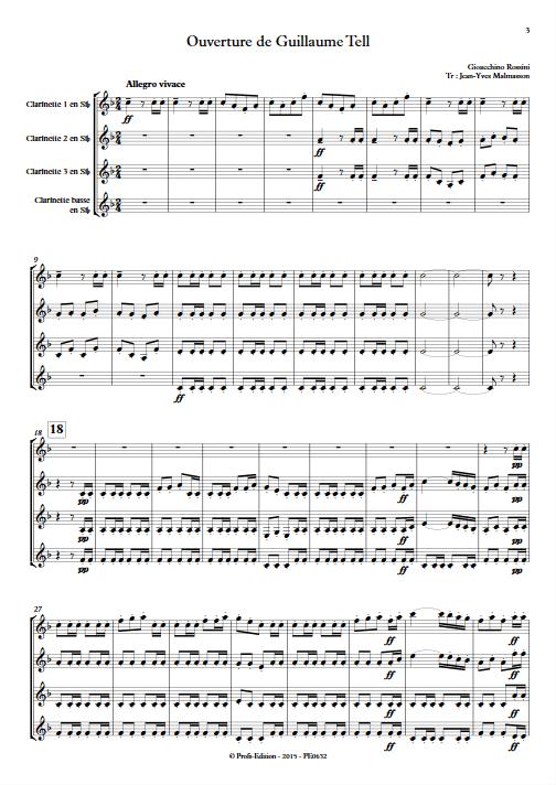 Guillaume Tell - Ensemble de Clarinettes - ROSSINI G. - app.scorescoreTitle