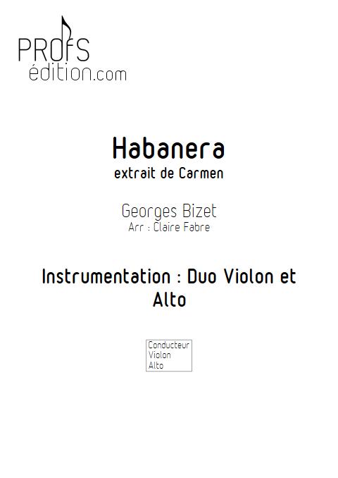Habanera - Duo Violon et Alto - BIZET G. - front page