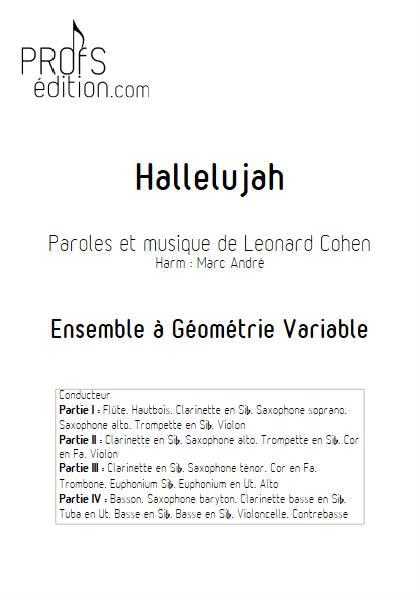 Hallelujah - Ensemble Variable - COHEN L. - front page