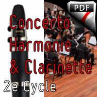 Concertino pour Clarinette - Clar & Orchestre Harmonie - WEBER C. M.