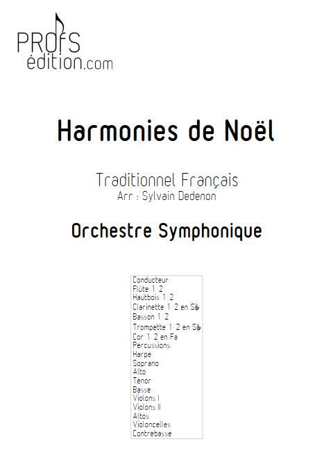 Harmonies de Noël - Chœur mixte & Orchestre symphonique - TRADITIONNEL FRANCAIS - front page