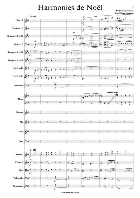 Harmonies de Noël - Chœur mixte & Orchestre symphonique - TRADITIONNEL FRANCAIS - app.scorescoreTitle