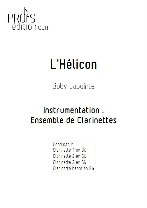 l'Hélicon - Ensemble de Clarinettes - LAPOINTE B. - front page