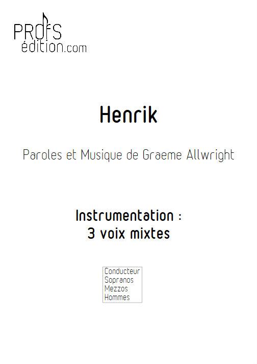 Henrik - Chœur 3 voix mixtes - ALLWRIGHT G. - front page