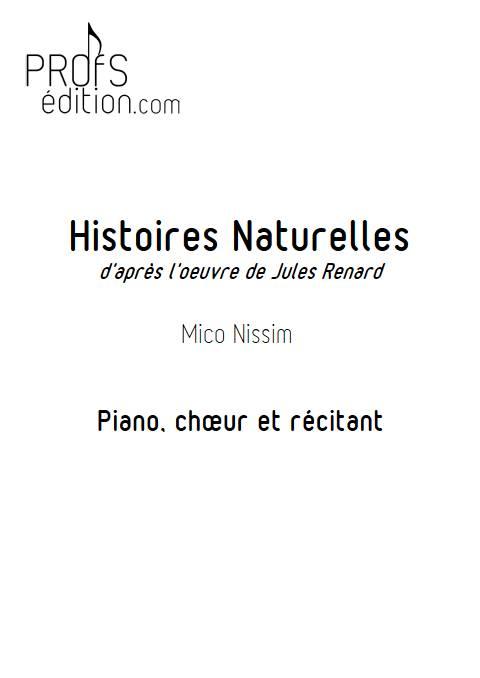 Histoires Naturelles - Chœur et Piano - NISSIM M. - front page