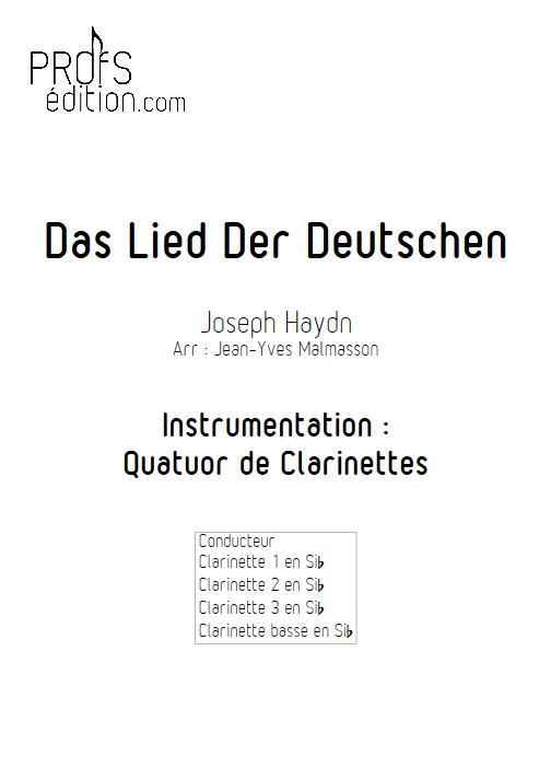 Hymne Allemand - Quatuor de Clarinettes - HAYDN J. - front page