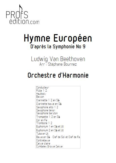 Hymne Européen - Orchestre d'Harmonie - BEETHOVEN L. V. - front page