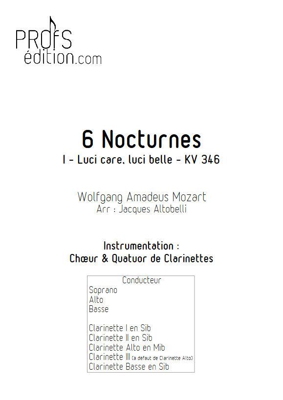 Luci care KV 346 - Chœur & Quatuor Clarinettes - MOZART W. A. - front page