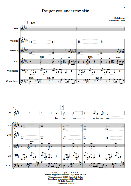 I've got you under my skin - Voix et Orchestre à Cordes - ZEHAR F. - app.scorescoreTitle