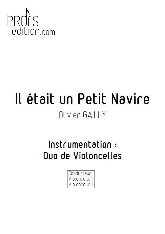 Il était un Petit Navire - Duo Violoncelles - TRADITIONNEL - front page