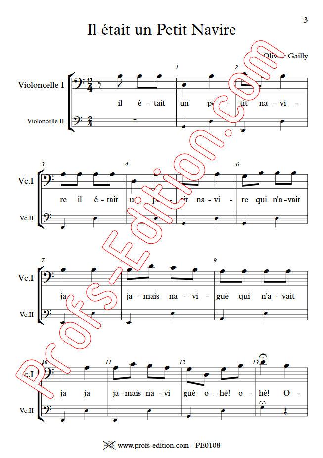 Il était un Petit Navire - Duo Violoncelles - TRADITIONNEL - app.scorescoreTitle