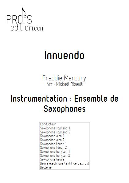 Innuendo - Ensemble de Saxophones - MERCURY F. - front page