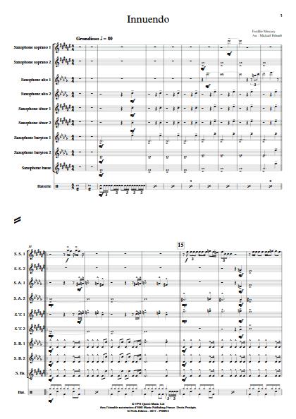 Innuendo - Ensemble de Saxophones - MERCURY F. - app.scorescoreTitle