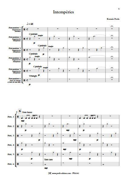 Intempéries - Sextette Percussions - PERDA R. - app.scorescoreTitle