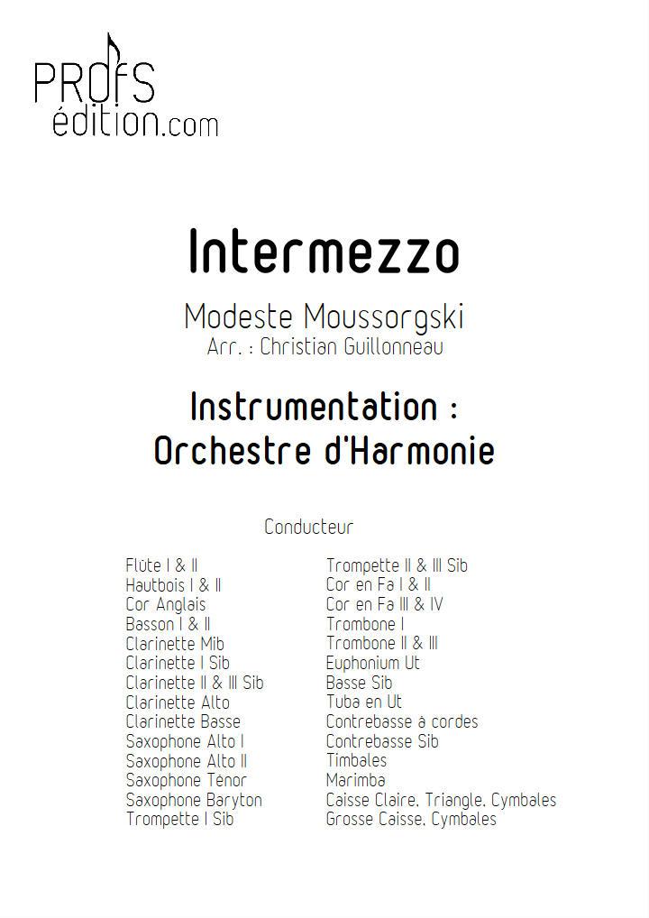 intermezzo in modo classico - Orchestre Harmonie - MOUSSORGSKY M. - front page