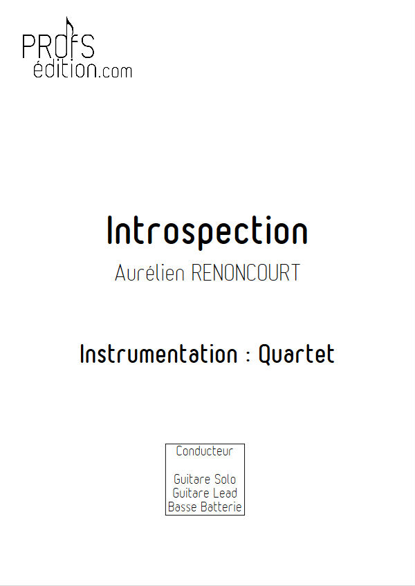 Introspection - Quartet Rock - RENONCOURT A. - front page
