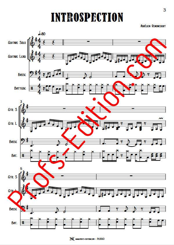 Introspection - Quartet Rock - RENONCOURT A. - app.scorescoreTitle