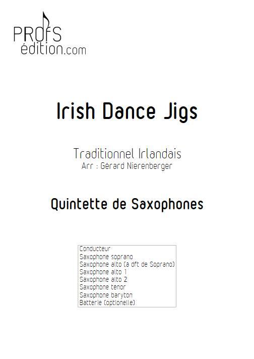 Irish Dance Jigs - Quintette de Saxophones - TRADITIONNEL IRLANDAIS - front page