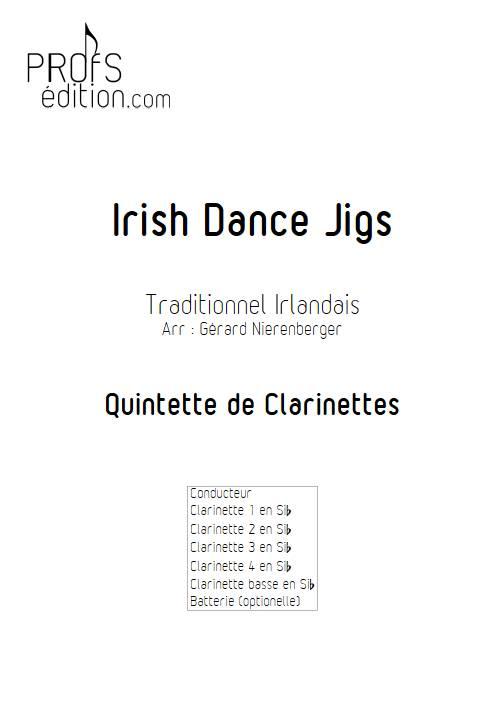 Irish Dance Jigs - Quintette de Clarinettes - TRADITIONNEL IRLANDAIS - front page