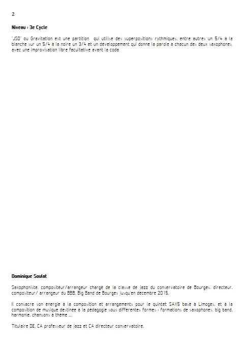 JSD - Duo de Saxophones - SOULAT D. - Educationnal sheet