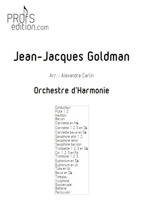 Jean-Jacques Goldman - Orchestre d'harmonie - GOLDMAN J. J. - front page