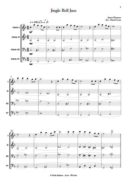 Jingle Bell Jazz - Ensemble Variable - PIERPONT J. - app.scorescoreTitle