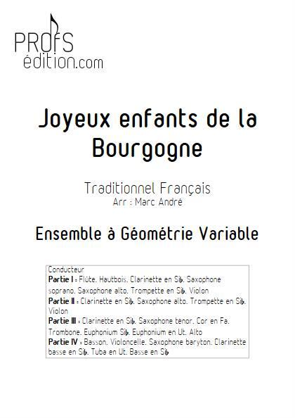 Joyeux enfants de la Bourgogne - Ensemble Variable - TRADITIONNEL FRANCAIS - front page