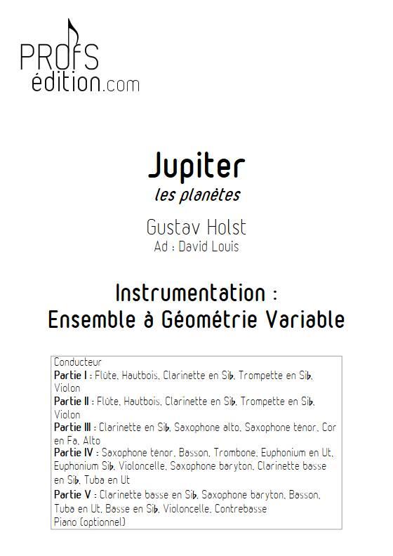 Jupiter - Ensemble Variable - HOLST G. - front page