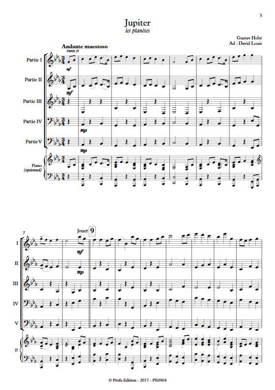 Jupiter - Ensemble Variable - HOLST G. - app.scorescoreTitle