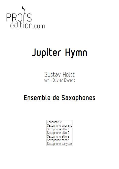 Jupiter Hymn - Ensemble de Saxophones - HOLST G. - front page