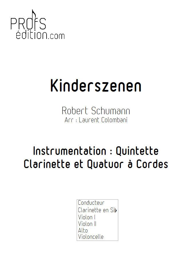 Kinderszenen - Clarinette et Quatuor à Cordes - SCHUMANN R. - front page