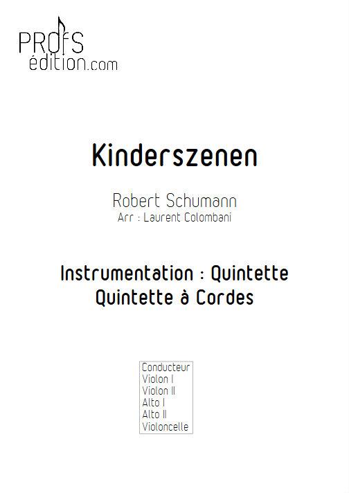 Kinderszenen - Quintette à Cordes - SCHUMANN R. - front page